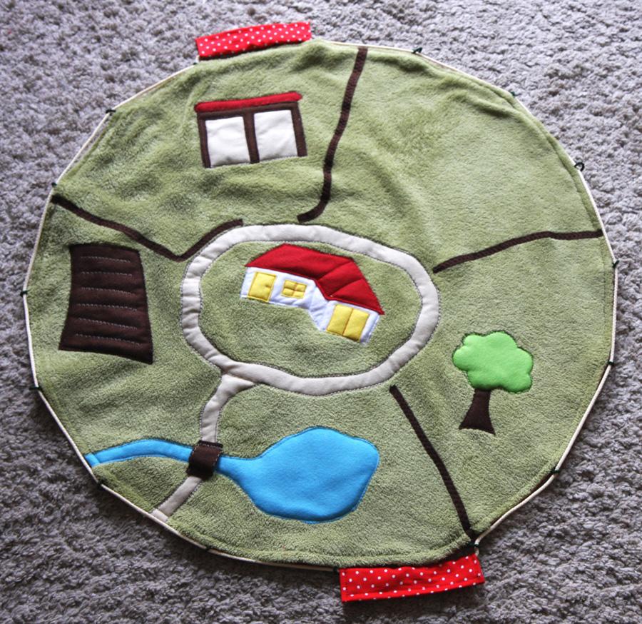 Spielteppich Nähen bauernhof spielteppich kleine viecher