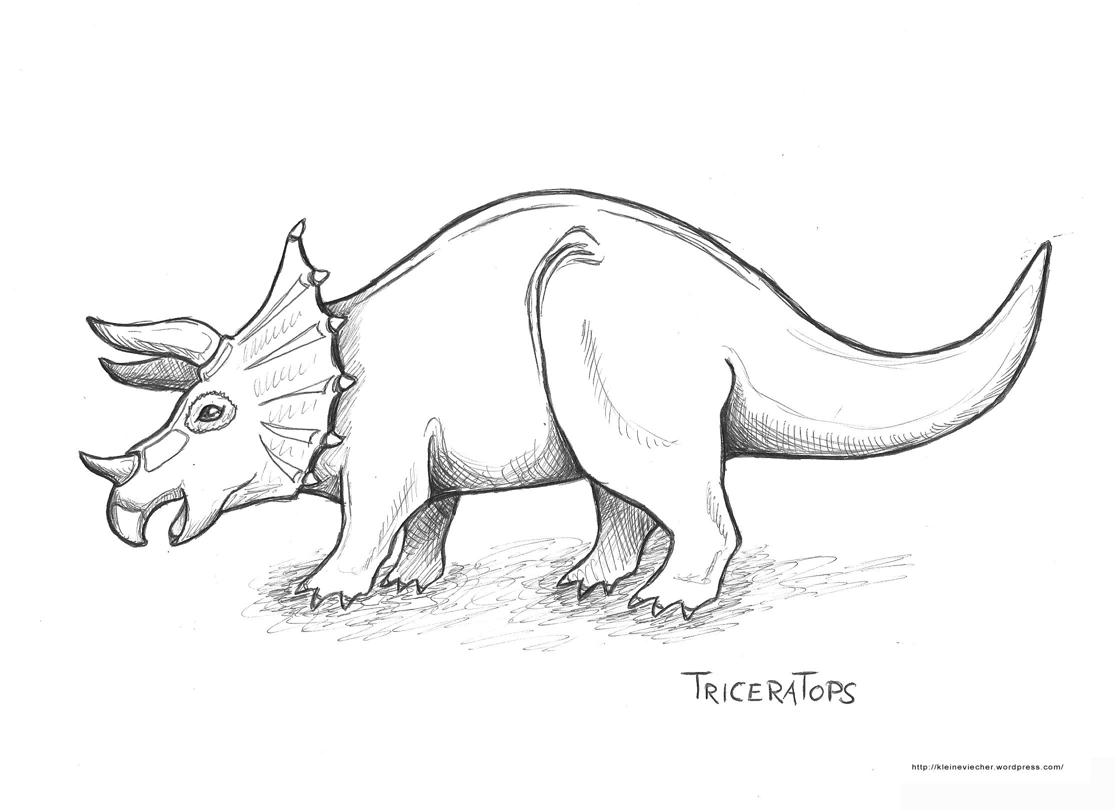 Malvorlagen Dinosaurier Triceratops | My blog